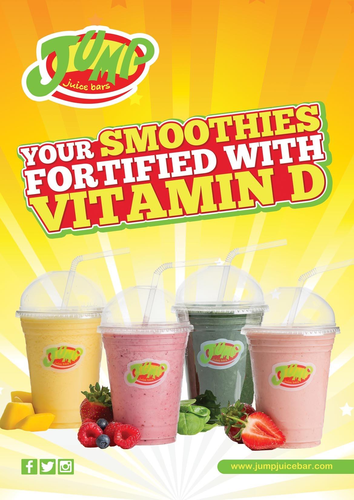 smoothies vitamin fortified foods vitamind yogurt juice protein juices bars frozen